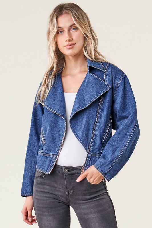 Denim Moto Jacket