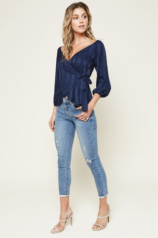 Off The Shoulder Wrap Top