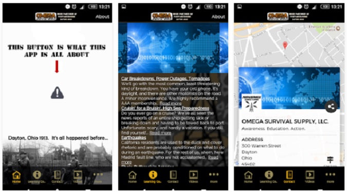 Free mobile app disaster alerts app for preppers