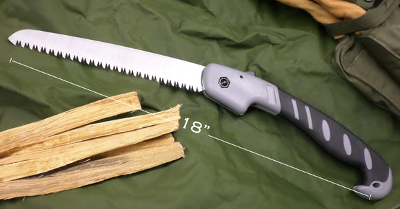 Stainless Steel Folding Saw w/ Shoulder Bag