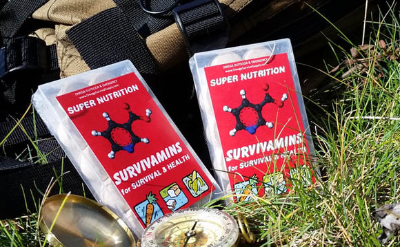 Survivamins:  5 Days of Nutrition in the Palm of Your Hand
