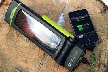 Self-Charging Solar Phone Charger & Flashlight