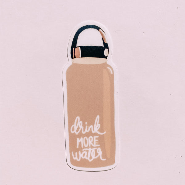 Drink More Water Pink Hydroflask Sticker