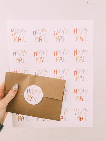 Happy Mail Packaging Sticker Sheets
