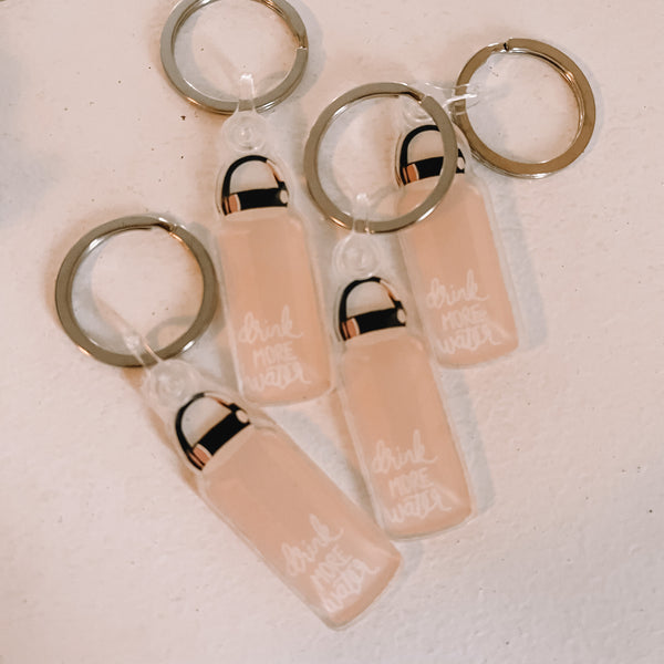 Clear Keychains with Key Ring