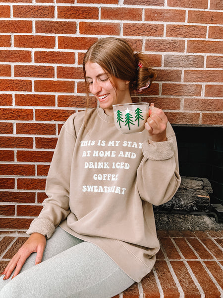 Stay at Home Iced Coffee Crewneck Sweatshirt