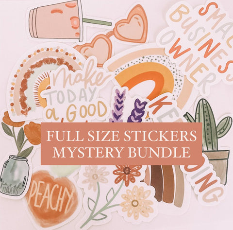 Mystery FULL Size Stickers Pack // Surprise, Random