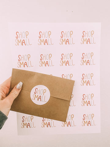 Shop Small Packaging Sticker Sheets