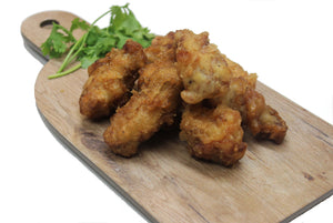 Crispy chicken wings made by Ely's Fine Foods in Toronto