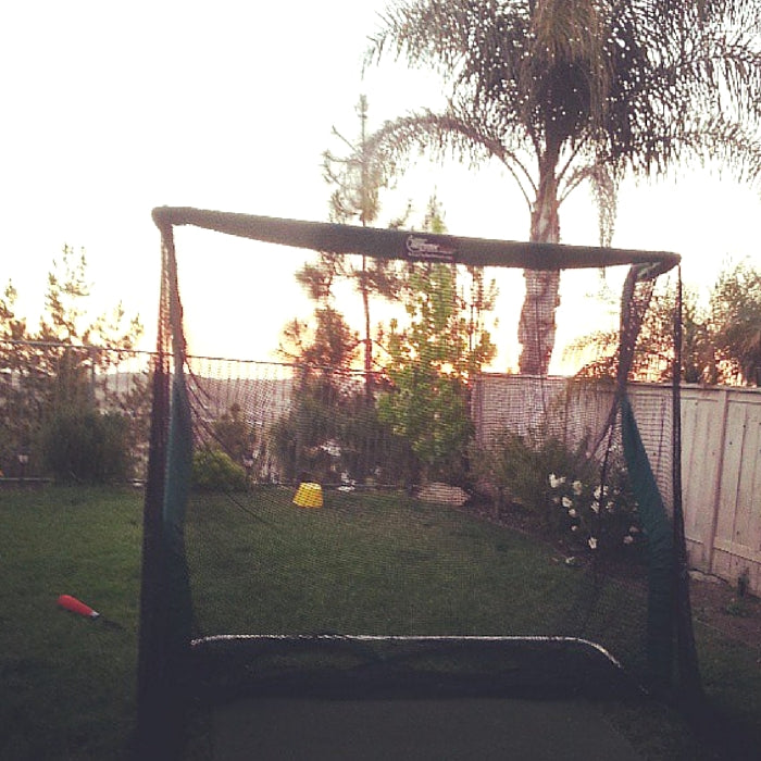Travis Campbell Golf Net in Backyard