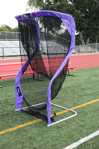 Cartersville Custom Football Kicking Net Angled View