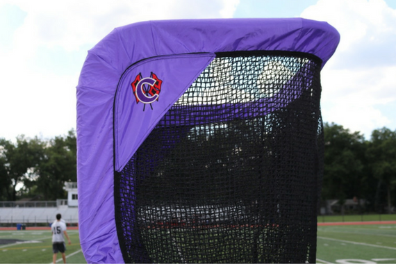 Cartersville Custom Football Kicking Net Top View Side