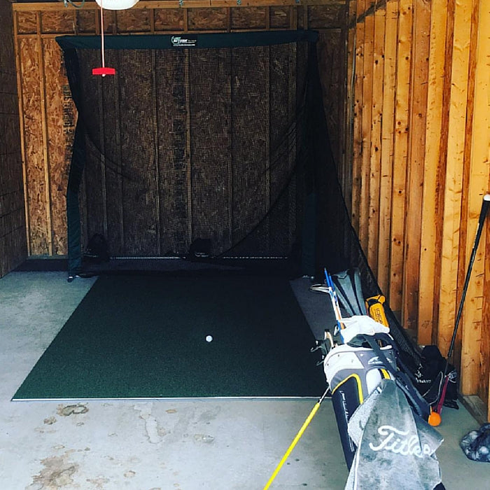 Chris Jackson Pro Series Golf Net in Garage