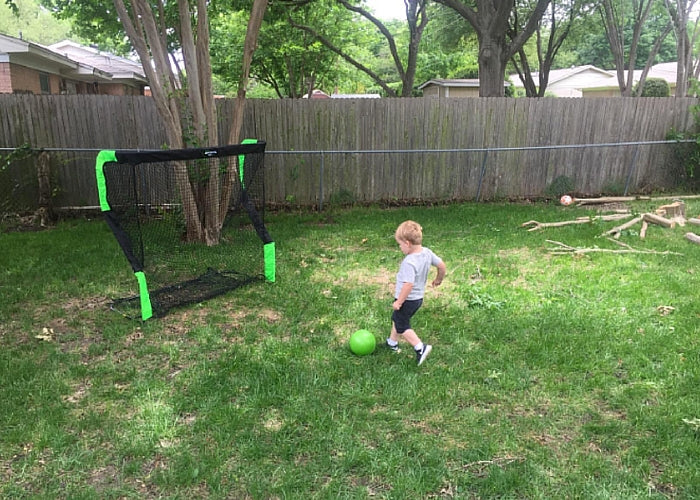 Net Return Jr. in Backyard