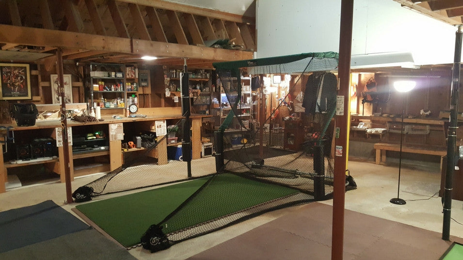 Aubrey Garage Golf Net