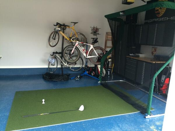 Dr. Dan Fuentes Pro Series Golf Net in His Garage