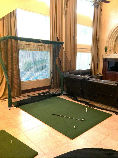 Eric Arango - Golf Net Return in Living Room