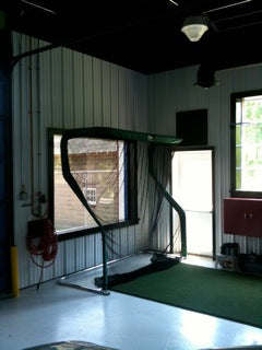 Harold Farley Golf Net in Garage