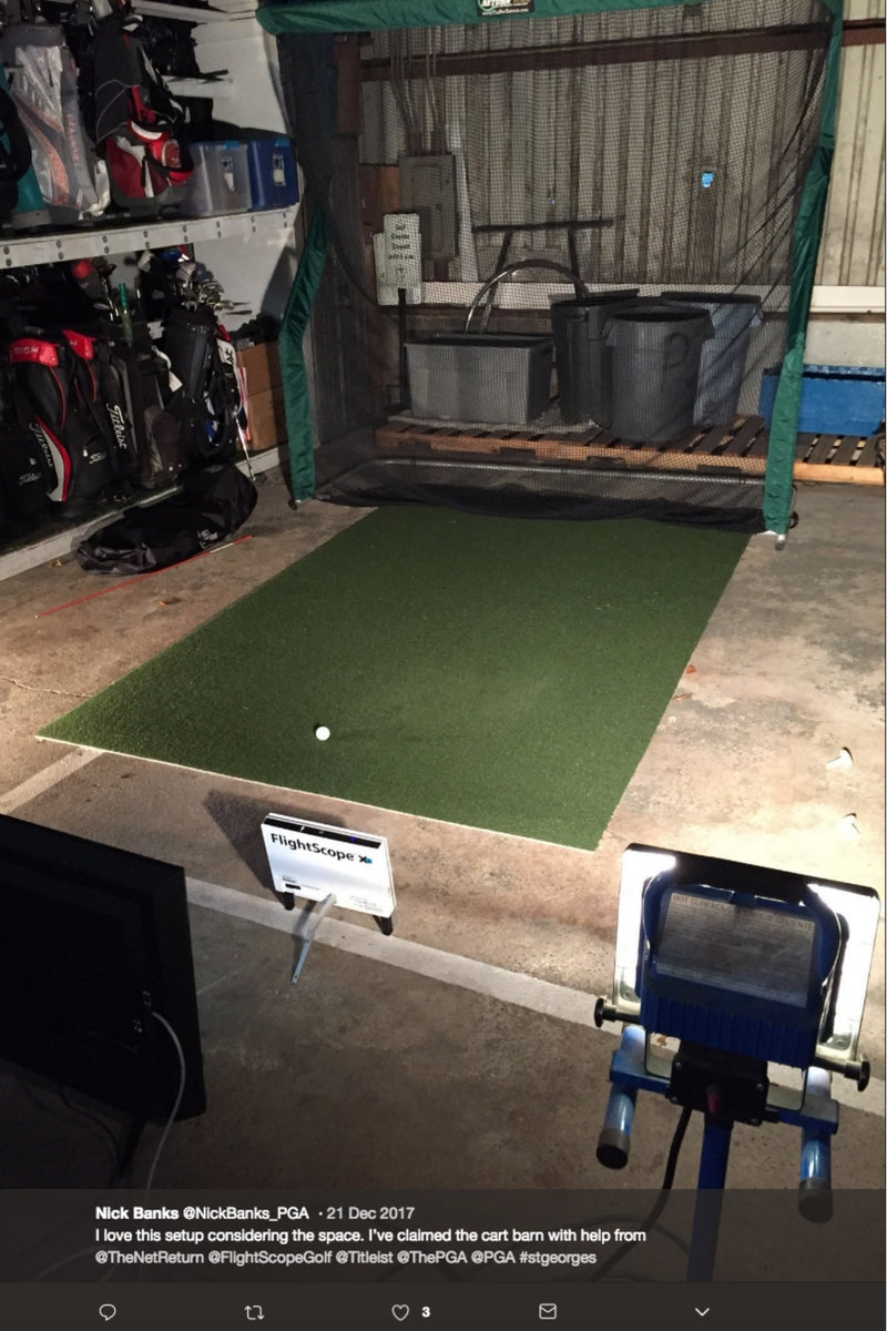 Nick Banks PGA Professional with Flightscope Golf Simulator