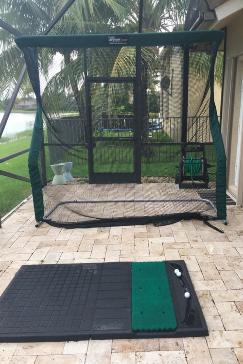 Norman Kronstadt Testimonial Golf Net on Side Porch