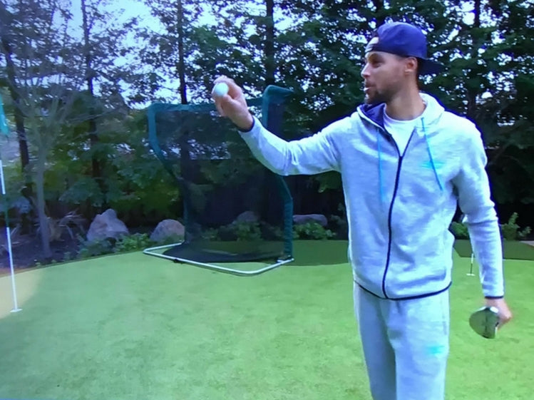 Stephen Curry Backyard Putting Green with Pro Series Golf Net