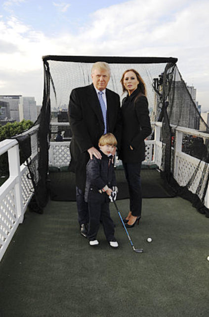 Donald Trump and Family with Net Return Pro Series on Skyscraper