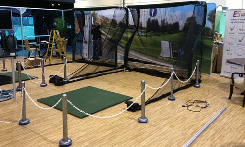 Ernest Sports Booth with Net Return Pro Series Golf Nets