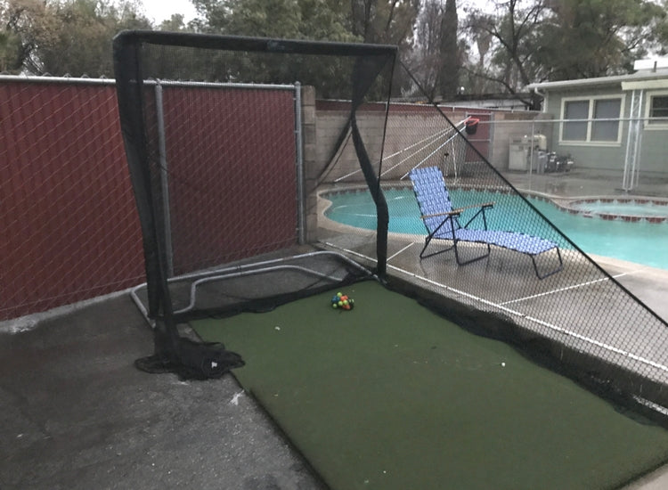 Jeremy Parnell - Home Series Golf Net by Pool