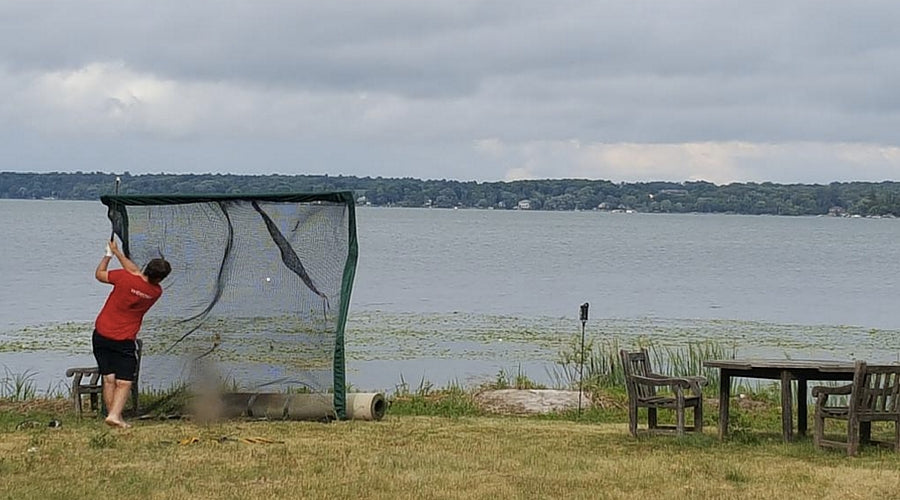 Golf Net Near Lake