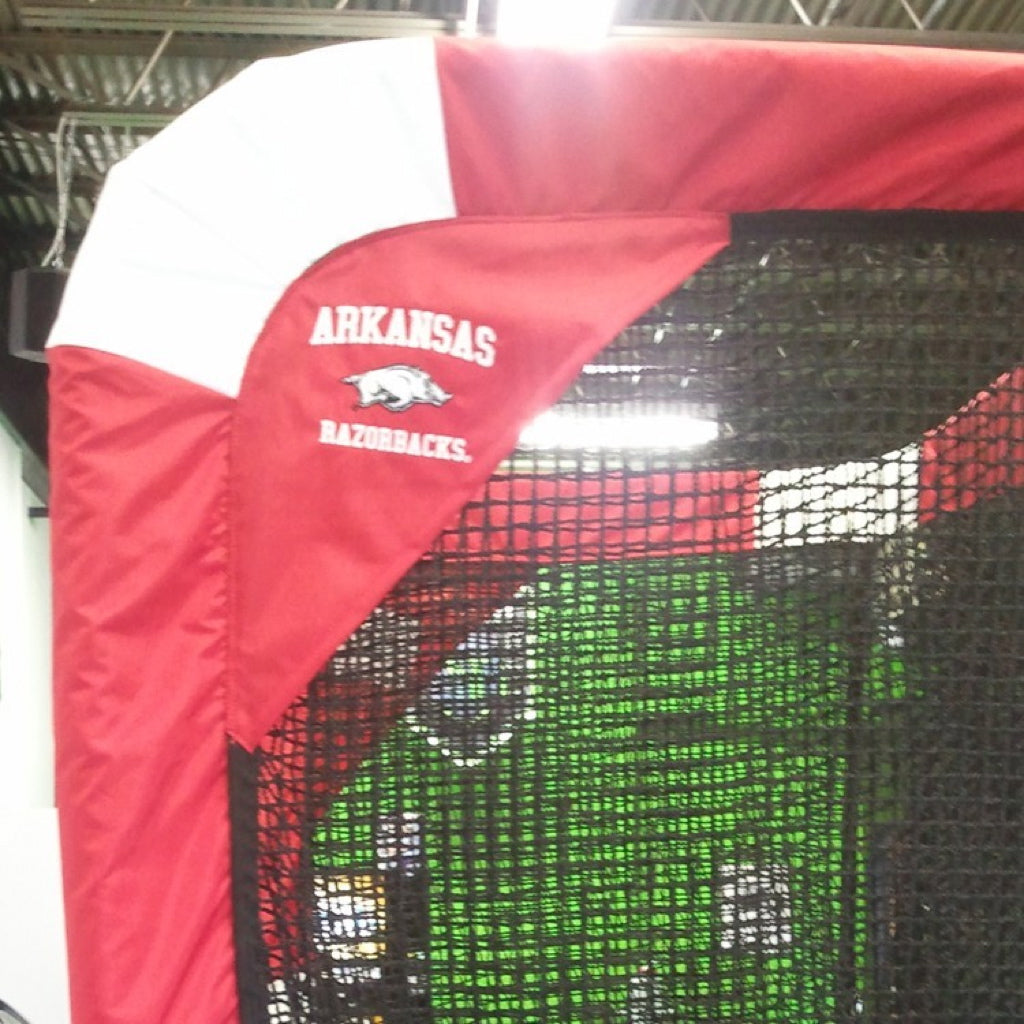 Arkansas Razorbacks Side View of Kicking Net Logo