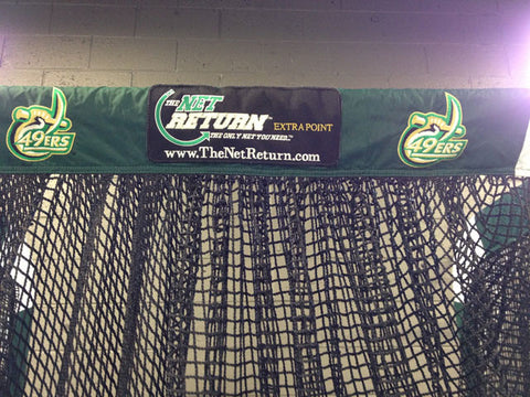 Charlotte 49ers Front View of Kicking Net Upper