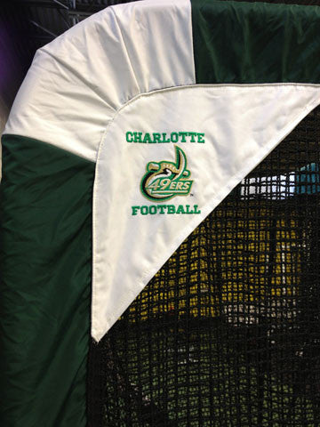 Charlotte 49ers Football Side View Logo