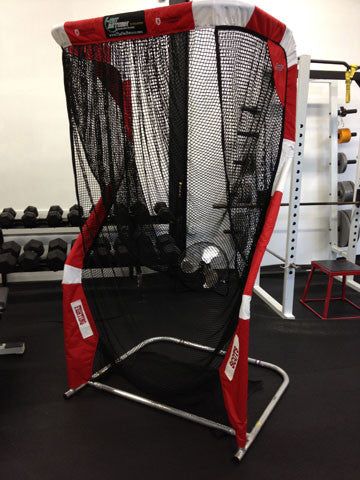 Angled Side View of Monmouth College Football Net