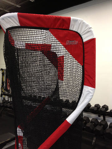 Side View of Monmouth College Football Net