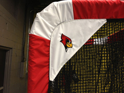 Illinois State Cardinal Logo on Football Kicking Net