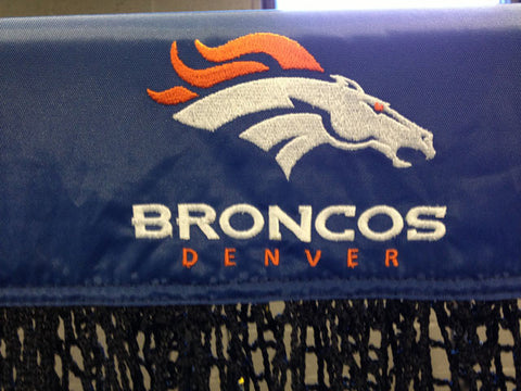 Denver Broncos Close Up of Logo on Football Kicking Net
