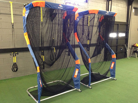 Denver Broncos Photo of two custom Kicking Nets