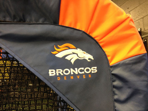 Denver Broncos Logo Close Up Side View