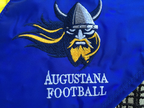 Augustana Football Logo Close Up Kicking Net