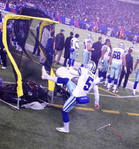 Dan Bailey from the Dallas Cowboys Kicking into The Net Return Extra Point