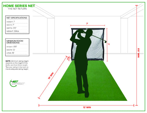Home Series Golf Net Room Specs