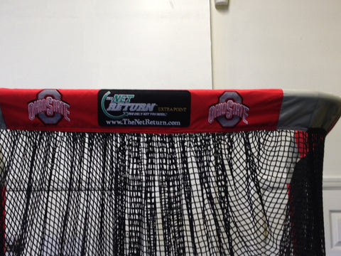 Upper Logos on Ohio State University Kicking Net