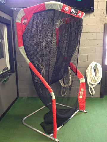 Ohio State Football Angled View of Extra Point Kicking Net