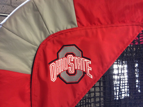 Ohio State University Football Logo Sideview of Kicking Net