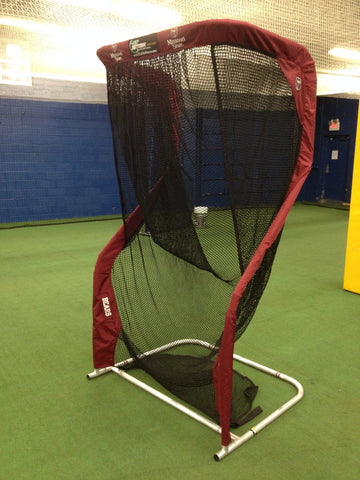 Angled View of Missouri State Football Kicking Net