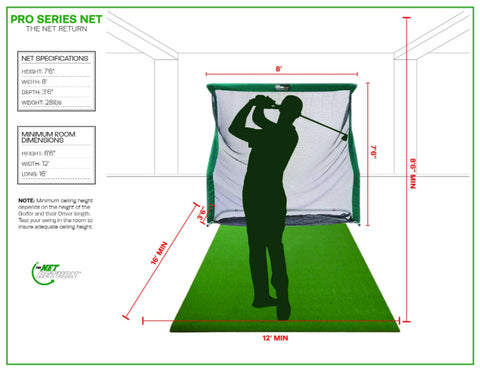 Pro Series Golf Net Room Specs