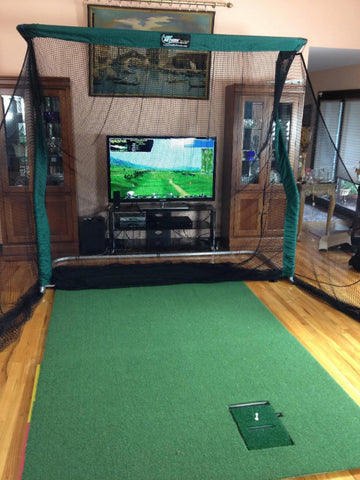 Pro Series with TV Behind Golf Net
