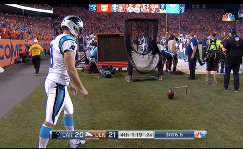 Jaguars Versus Broncos Extra Point Kicking Net