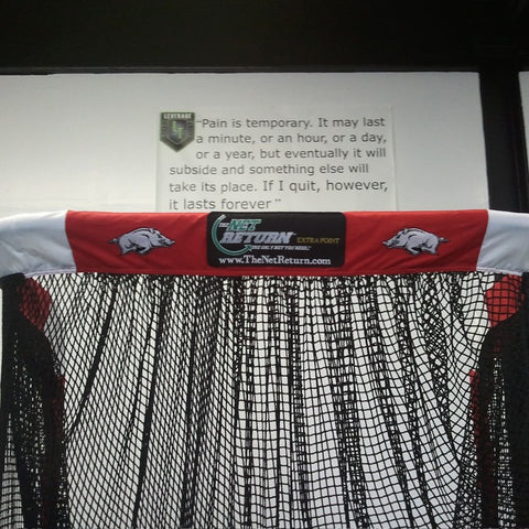 Arkansas Razorbacks Upper Front View of Kicking Net