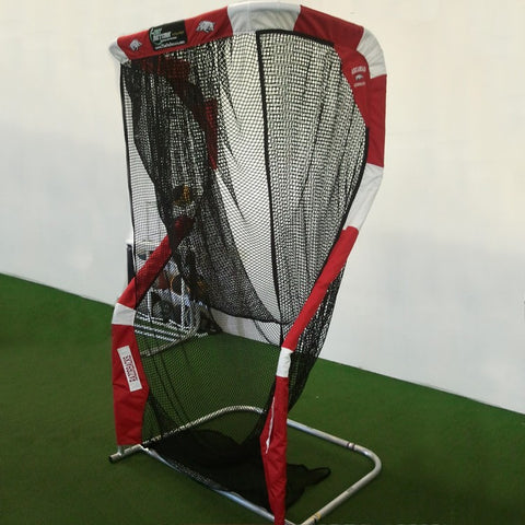 Side View of Custom Arkansas Razorback Kicking Net